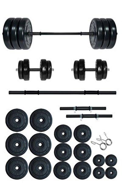105 kg Halter Seti Ve Dambıl Seti Ağırlık Fitness Seti 1000662