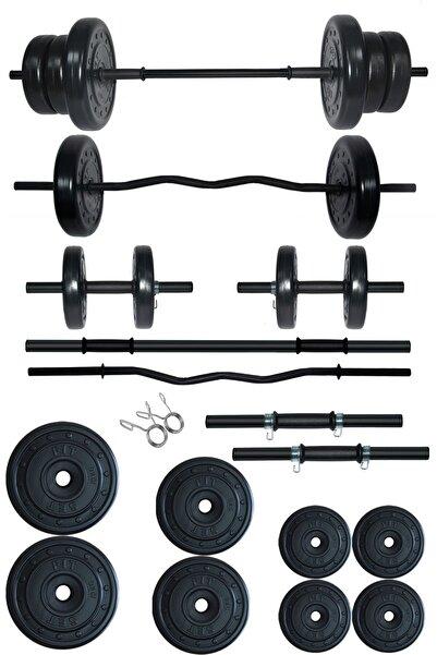 Fitset 48 kg Z Barlı Halter Seti ve Dambıl Seti Ağırlık Fitness Seti