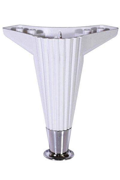 Badem10 Nobel Mobilya Kanepe Masa Sehpa Ayağı Baza Ayak 17 Cm (beyaz-krom)