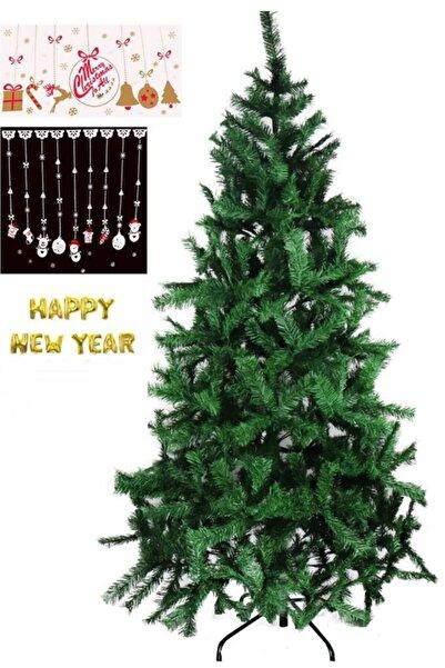 BeySüS Yılbaşı Çam Ağacı Iki Adet Sticker Ve Folyo Balon Hediyeli 210 Cm 720 Dal