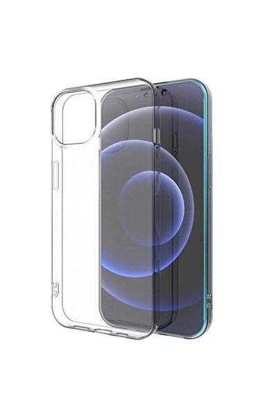 Mislina Iphone 13 Sert Şeffaf Cam Kamera Çıkıntılı Kılıf