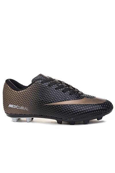 Walked 233 Siyah Krampon Çim Erkek Futbol Ayakkabı