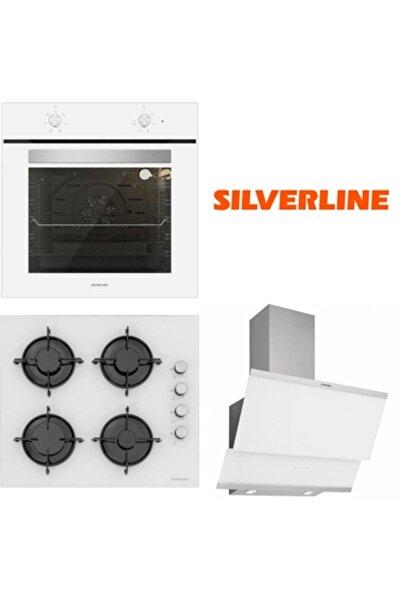 Silverline Beyaz Cam Ankastre Set BO6501W01 - CS5349W01 - 3420 Classy