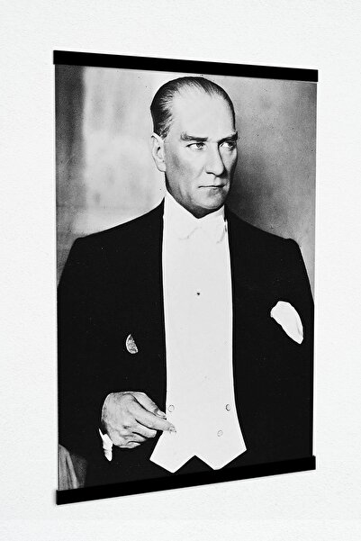 panotik Atatürk Resmi Kanvas Tablo Çıtalı