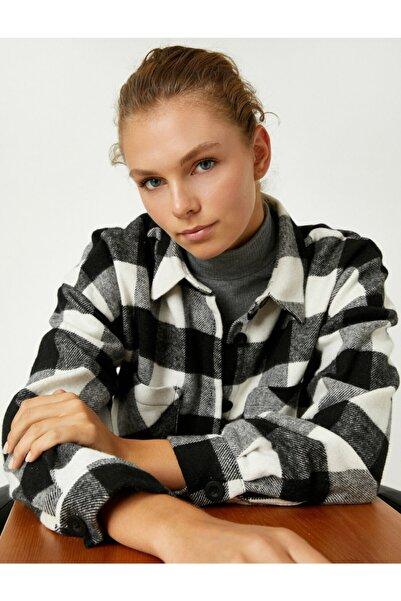 Koton Kareli Uzun Kollu Cepli Dügmeli Oduncu Gömlegi