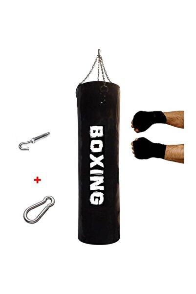 A Boxing 120x35 Cm Geniş Kum Torbası+boks Bandajı+ Kargo Bedava Dolu Tavan Apartı Hediyeli Üründür