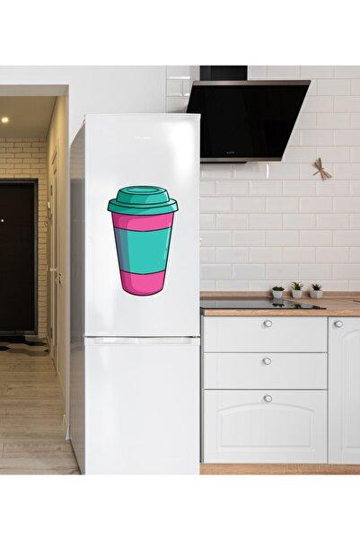 MimOzalit Karton Bardakta Kahve Büyük Boy Buzdolabı Magneti - 35x55cm