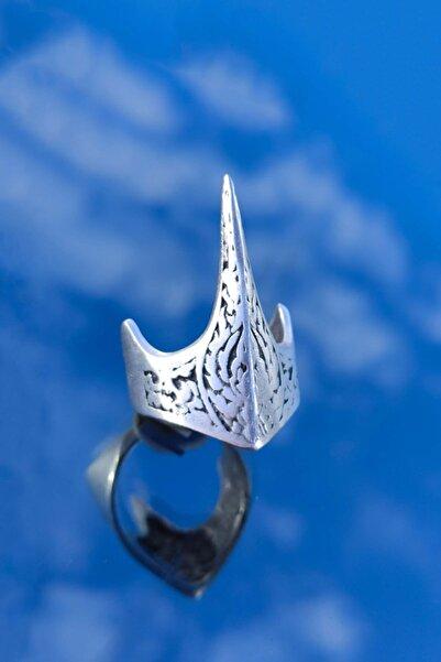 Therapy Accessories Unisex Gümüş Kaplama Antik Eskitme Ayarlanabilir Özel Tasarım Ertuğrul Okçu Zihgir Yüzüğü