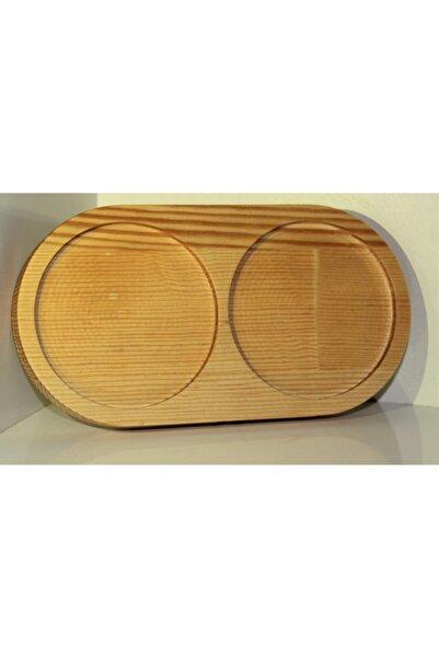 Wooden Design 2 Bölmeli Yağdanlık Yağlık Stand Altlık & Sıvı Sabunluk Stand