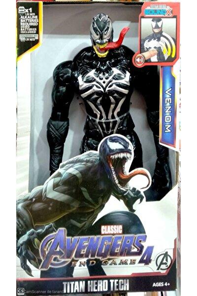 AVENGERS Venom The Amazing Spiderman Action Figür Oyuncak Venom Figür Işıklı Sesli 30 Cm Venom Oyuncak Figür
