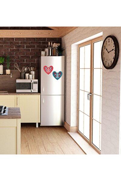 MimOzalit Çift Kalp Büyük Boy Buzdolabı Magneti