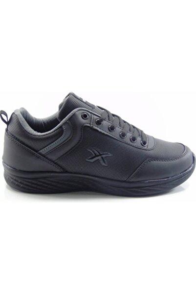 Venuma Unisex Siyah Cilt Spor Ayakkabı 252
