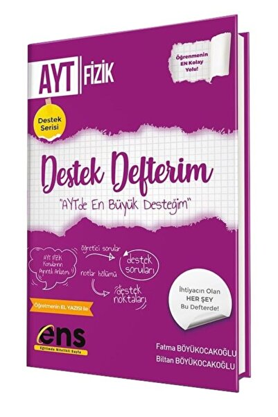 Ens Yayınları Ens Yayıncılık Ayt Fizik Destek Defterim