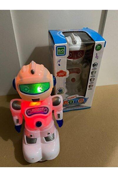 Funny Pilli Işıklı Sesli Hareketli Robot