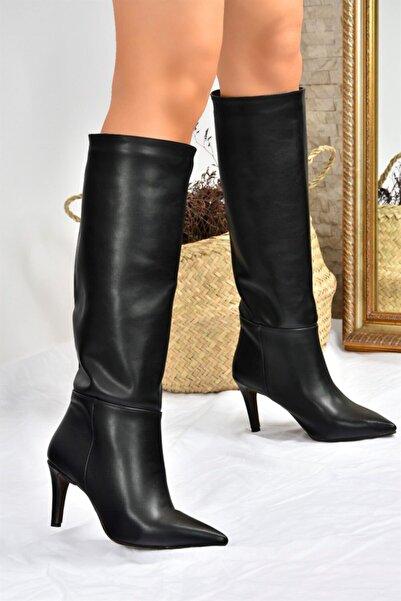 Fox Shoes Siyah Ince Topuklu Kadın Çizme L820100009