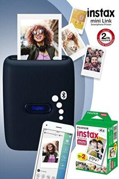 Instax mini Link Mavi Akıllı Telefon Yazıcısı ve 20'li mini Film