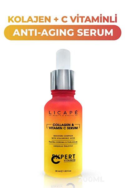 Licape Collagen +  C Vitaminli Yaşlanma Karşıtı Cilt Serumu 30 ml
