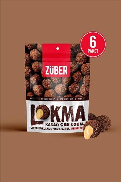 Züber Lokma Kakao Çekirdeği Kaplı Fındık Ezmeli Meyve Topu 96g X 6 Paket
