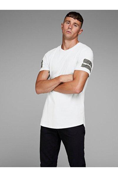 Jack & Jones Kollarda 2 Kısa Cızgı 0 Yaka Kısa Kol T-Shirt