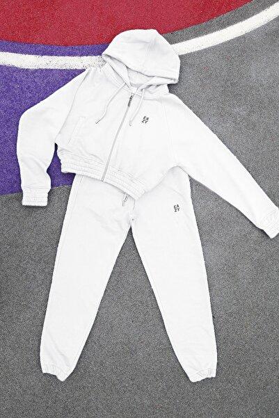 Eazy Clothes Kadın Basic Lastikli Eşofman Takımı