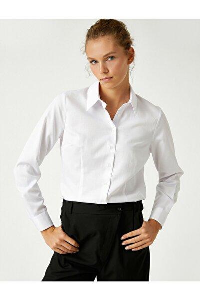 Koton Klasik Yaka Uzun Kollu Gömlek