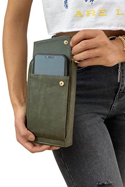 Çlk Accessories Çapraz Zincir Askılı Cüzdan &telefonluk 1045-1 Yeşil
