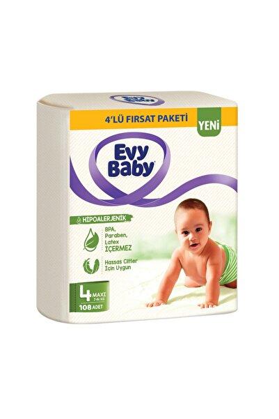 Evy Baby Bebek Bezi 4 Beden Maxi 4'lü Fırsat Paketi 120 Adet Yeni