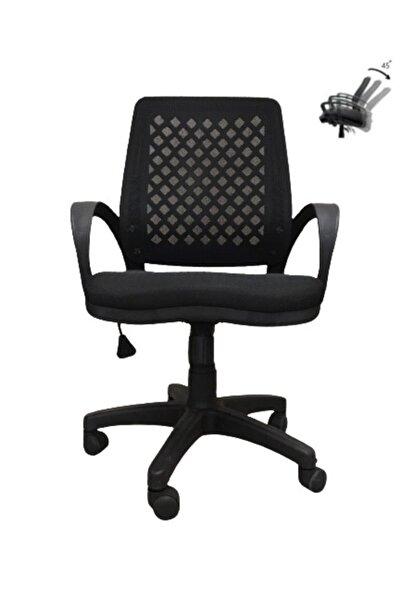 ÜNAL OFFİCE FURNİTURE & DESİNG Siyah Büro Ofis Çalışma Koltuğu Bilgisayar Sandalyesi