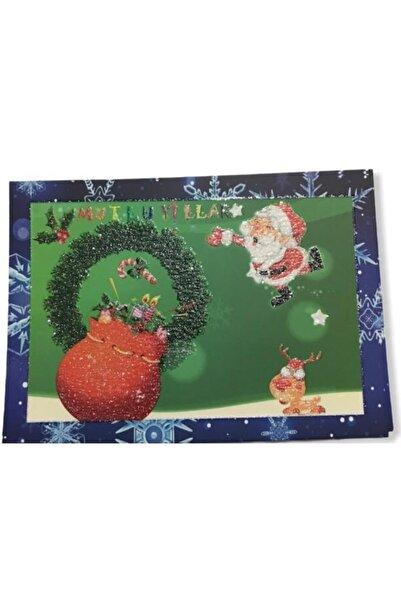 KARYA Nostaji Simli Yeni Yıl Kartpostalı 8 Adet 16x12 Ebat Kalem ve Zarf Hediyemizdir