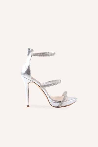 MARCATELLI Gümüş Nirvana Yüksek Topuklu Sandalet