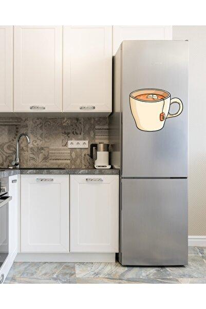 MimOzalit Fincan Sallama Çay Büyük Boy Buzdolabı Magneti - 50x40cm