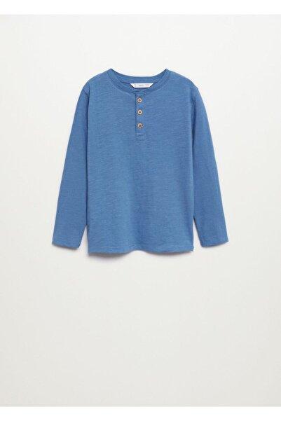 MANGO Kids Düğmeli Uzun Kollu Tişört