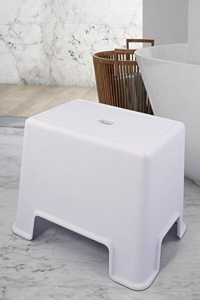 vipgross Beyaz Banyo Taburesi