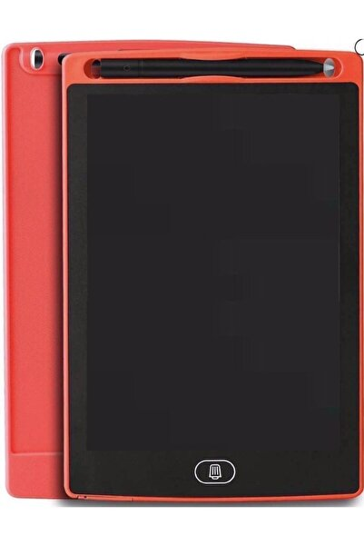 SolinpaTech Kırmızı 8,5 inç Digital Kalemli LCD Çizim Yazı Tahtası Grafik Not Yazma Eğitim Tableti