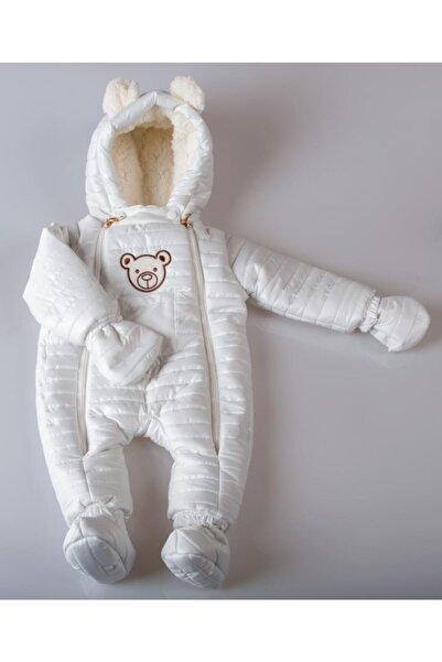 POKY BEBE Bebek Çocuk Ayıcık Armalı Çift Fermuarlı Kozmonot Tulum-103144