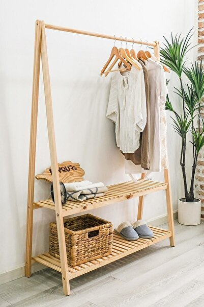 The BEST Shopping Konfeksiyon Elbise Askılık İki Raflı 148 X 106 cm