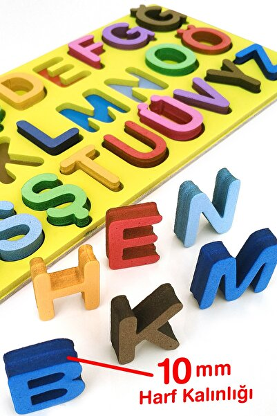 Hologram Kart Eva Montessori Alfabe Büyük Harf Bultak Yapboz Puzzle
