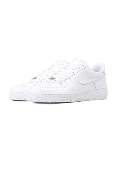 Air Force 1 '07 Lv8 3m Beyaz Gümüş Sneaker Erkek Ayakkabı