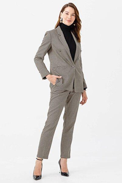 Moda İlgi Modailgi Kazayağı Desen Blazer Ceket Orjinal