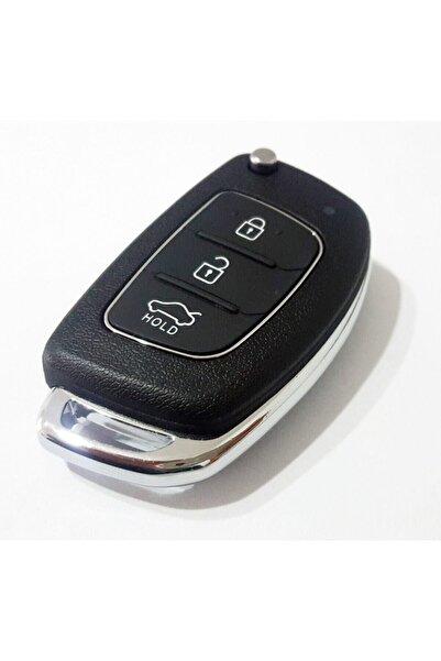 Skilit Hyundai Accent Blue - I20 - I30 - Ix35 Sustalı Kumanda Kabı 3 Buton Vidalı Toy48 Uçlu