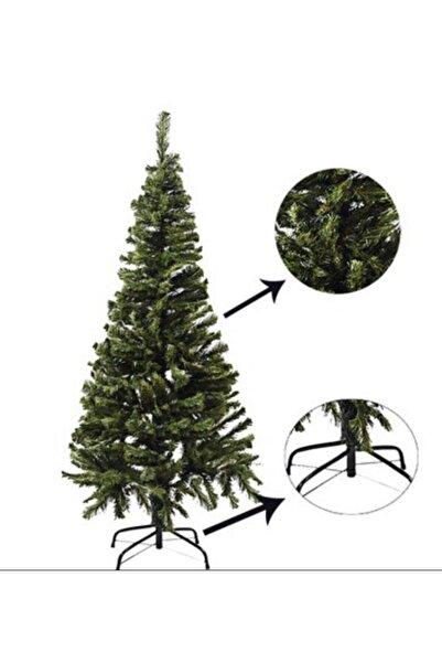 Erka Yılbaşı Ağacı Gür Dallı Yılbaşı Çam Ağacı Demir Ayak Demir Gövdeli Noel Ağacı 150 Cm