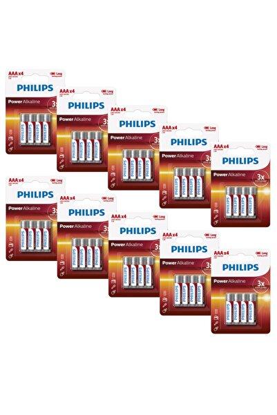 Philips Lr03p4b/05 Alkalin Aaa Ince Kalem Pil 4'lü (x10 Adet)