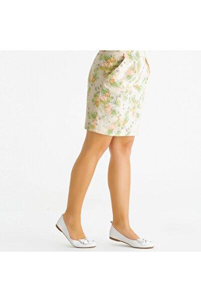 KEMAL TANCA Kadın Beyaz Babet Ayakkabı