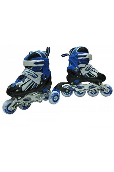 Sole Unisex Çocuk Mavi Led Işıklı Metal Gövde 2+1, 2+2 Sıralı 4 Teker 3 In 1 Kullanım Alıştırma Pateni