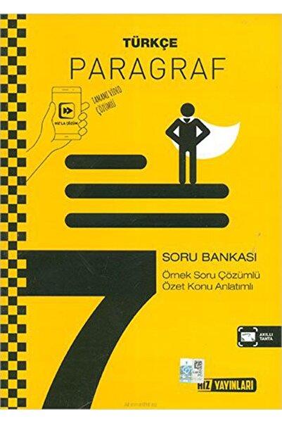 Hız Yayınları 7. Sınıf Türkçe Paragraf Soru Bankası Yeni