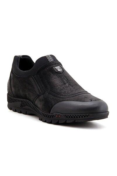MARCOMEN 14121 Hakiki Deri Erkek Ayakkabı - Siyah Nubuk