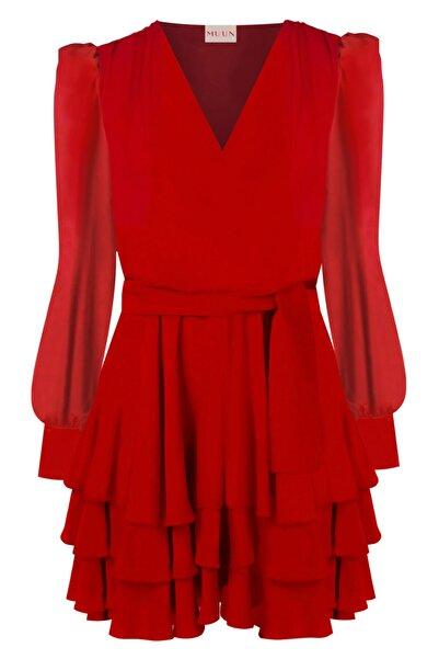 Muun Valentına Kırmızı Elbise