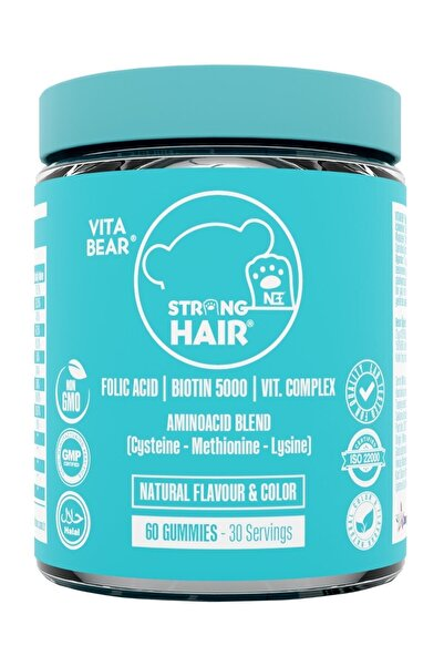 Vita Bear Strong Hair Gummy Vitamin 60 Adet