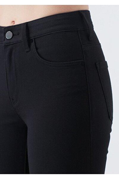 VEGA Kadın Siyah Solmayan Yüksel Bel Likralı Toparlayıcı Skinny Jeans Pantalon