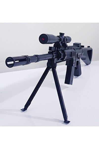 Şenver Toys Oyuncak Boncuk Atan Gerçek Görünümlü Lazerli M-739 Keskin Nişancı Tüfeği 85cm